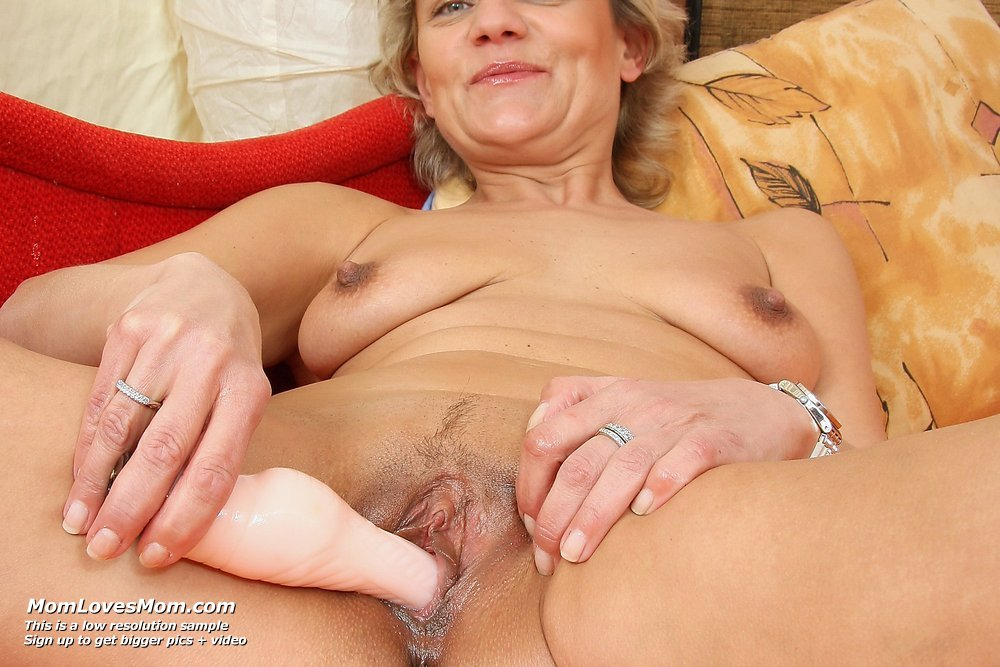 Mature mom finger fucks her full bushed pussy 3