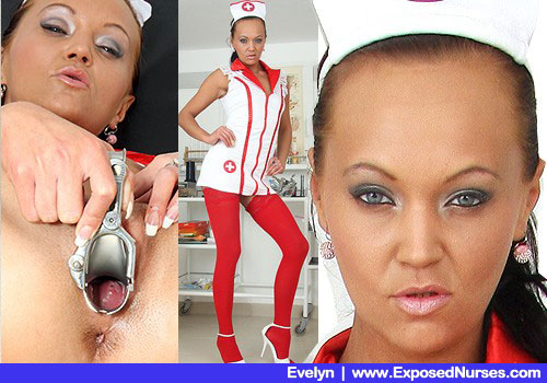 d8688 en evelyn pics nurse American Association For Medical Benefits   Slender Woman in Doc Outfit, Rosy Pantyhose and Steep Heels